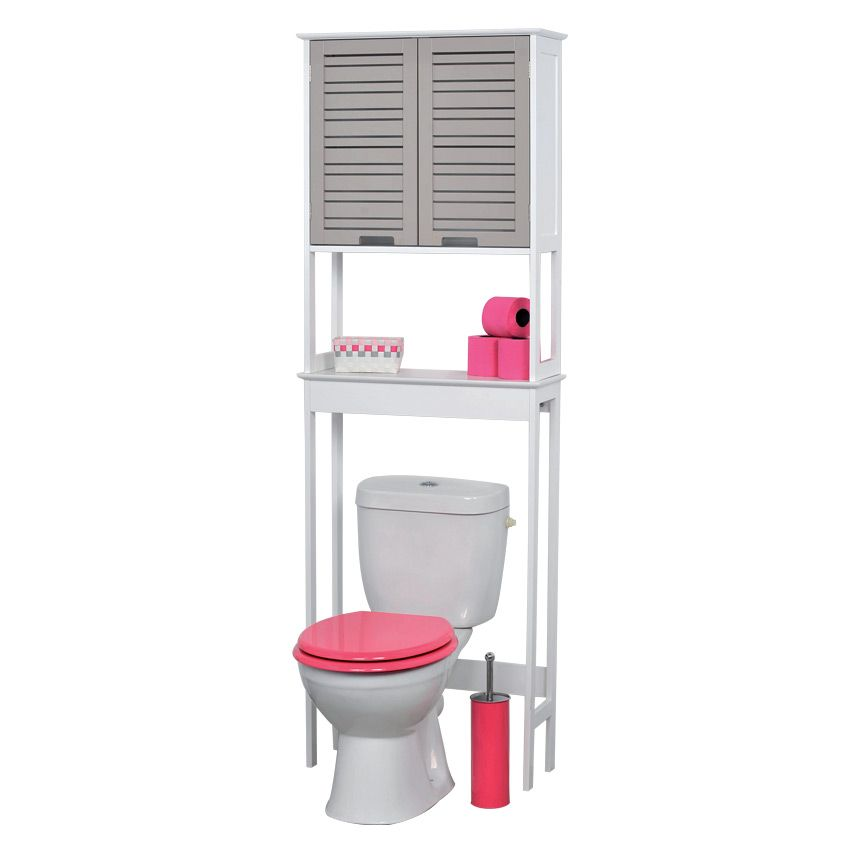 Meuble dessus wc romantic taupe dessus wc eminza for Meuble salle de bain taupe