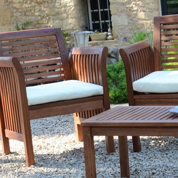 salon de jardin guyana 4 places salon de jardin eminza. Black Bedroom Furniture Sets. Home Design Ideas
