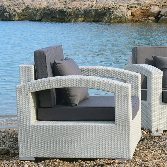 salon de jardin panama blanc 5 places salon de jardin eminza. Black Bedroom Furniture Sets. Home Design Ideas