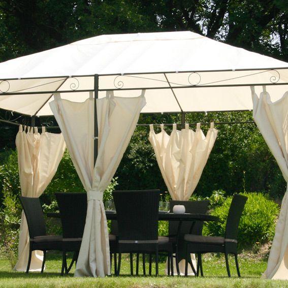 rideau pour tonnelle blanc. Black Bedroom Furniture Sets. Home Design Ideas