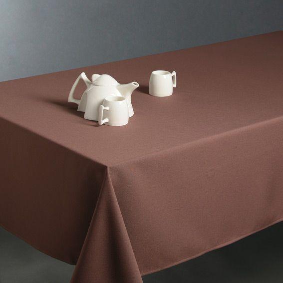 Nappe rectangulaire l300 cm uni taupe nappe de table - Nappe anti tache rectangulaire 300 ...