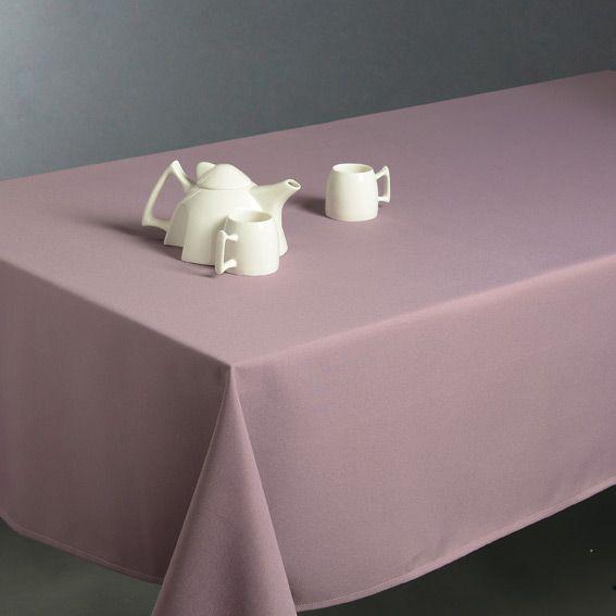 Nappe rectangulaire l300 cm uni parme nappe de table for Nappe de table rectangulaire
