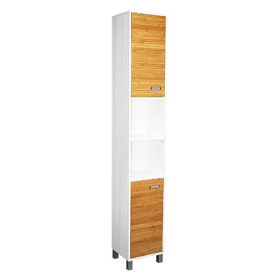 Meuble colonne salle de bain sweden blanc colonne eminza for Meuble colonne salle de bain blanc