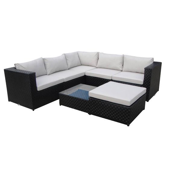 salon de jardin colina noir 6 places salon de jardin d tente eminza. Black Bedroom Furniture Sets. Home Design Ideas