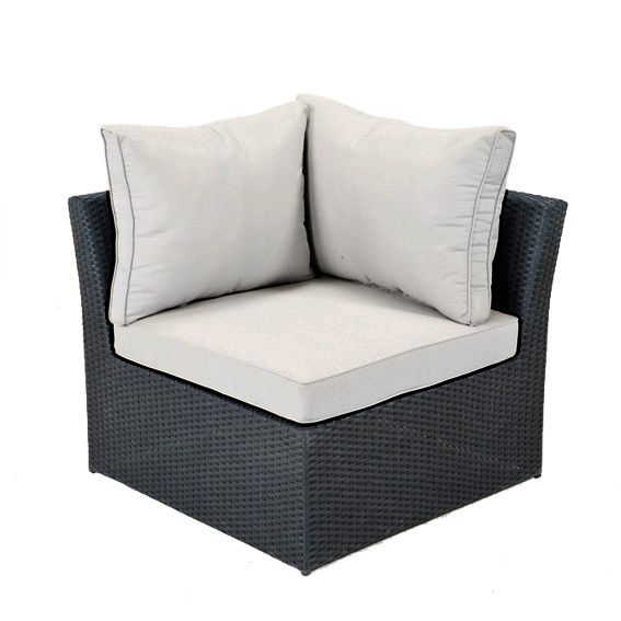 fauteuil d 39 angle de jardin s villa noir sable salon composer eminza. Black Bedroom Furniture Sets. Home Design Ideas
