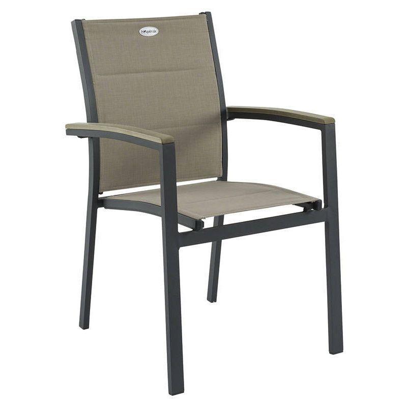 fauteuil de jardin empilable azua taupe anthracite chaise et fauteuil de jardin eminza. Black Bedroom Furniture Sets. Home Design Ideas