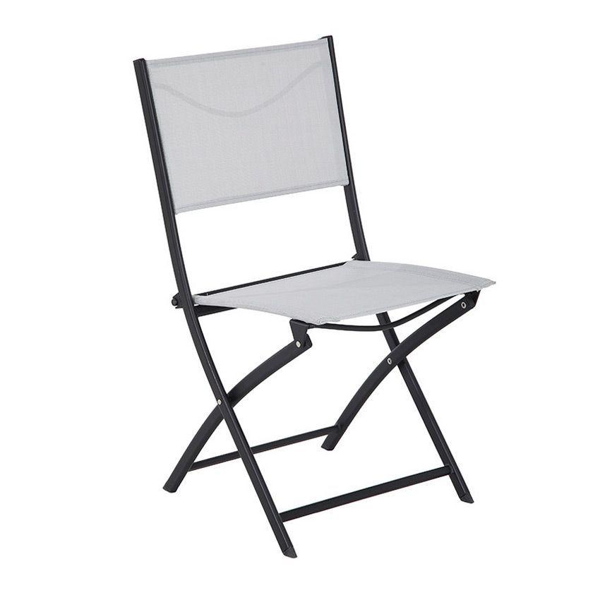 chaise de jardin modula gris clair noir chaise et fauteuil de jardin eminza. Black Bedroom Furniture Sets. Home Design Ideas