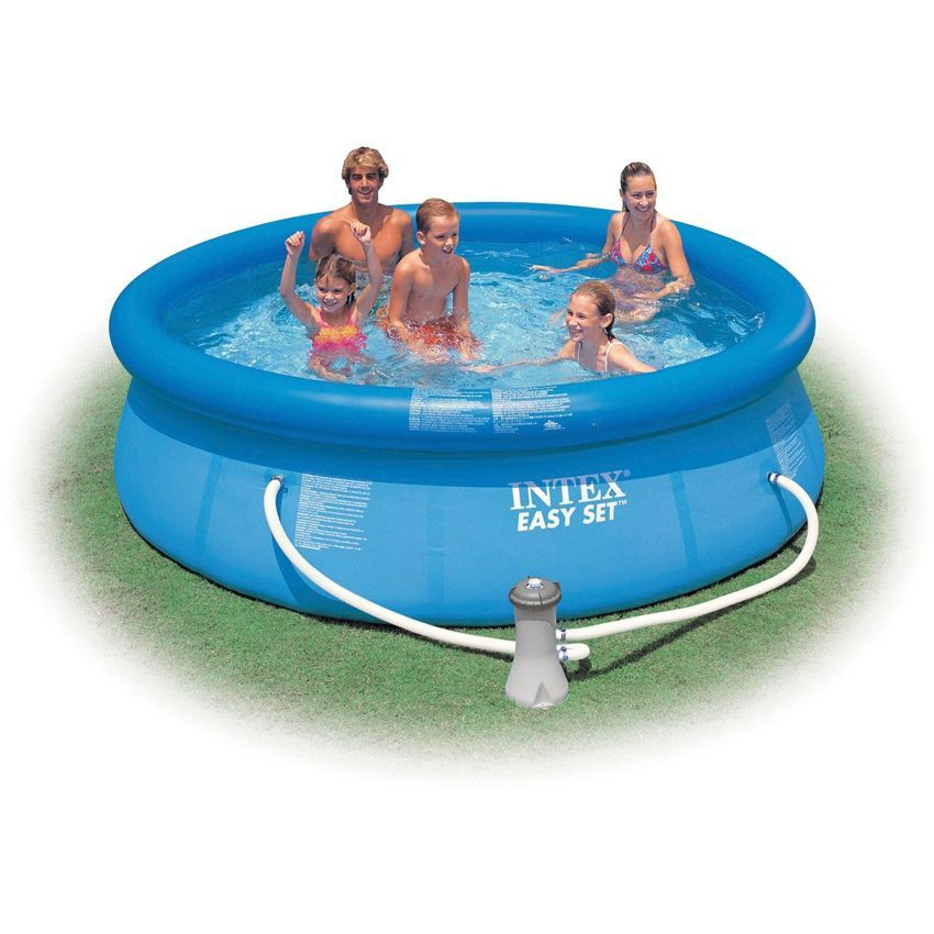 Piscine autostable easy set 3 05 x h 0 76 m intex for Bache piscine intex 3 05
