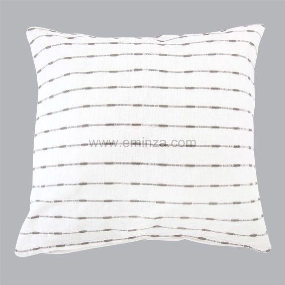 Housse de coussin 40 cm natura blanc coussin et housse - Housse de coussin blanc ...