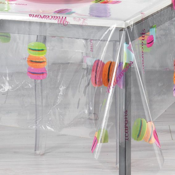 nappe cir e rectangulaire l240 cm macarons cristal linge de table eminza. Black Bedroom Furniture Sets. Home Design Ideas