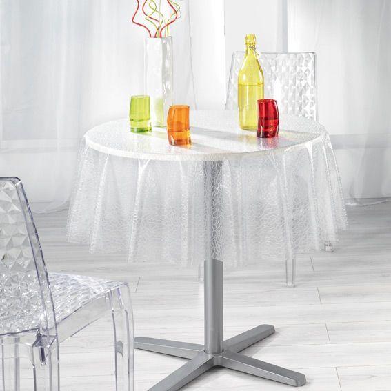 nappe cir e ronde d140 cm ecaille cristal linge de table eminza. Black Bedroom Furniture Sets. Home Design Ideas