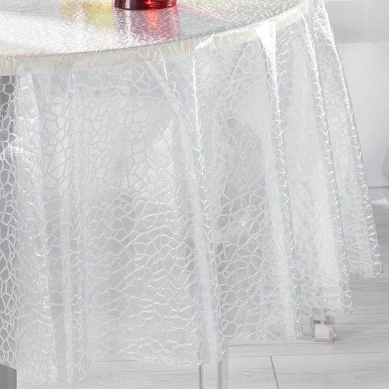 nappe cir 233 e ronde d140 cm ecaille cristal linge de table eminza