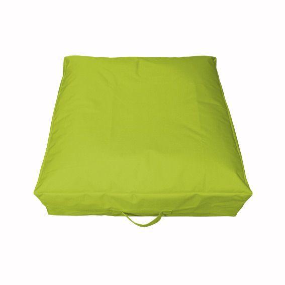 coussin de sol gonflable vert anis bain de soleil et. Black Bedroom Furniture Sets. Home Design Ideas