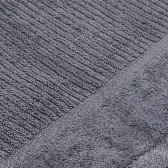 serviette de bain 50 x 90 cm velout gris serviette de bain eminza. Black Bedroom Furniture Sets. Home Design Ideas