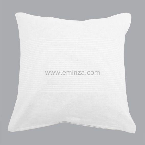 housse de coussin lana blanc coussin et housse de coussin eminza. Black Bedroom Furniture Sets. Home Design Ideas