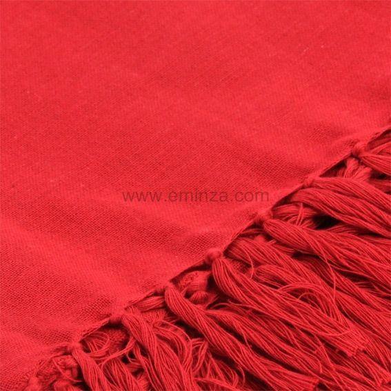 Jet de canap 150 cm lana rouge jet de canap eminza for Jete de canape rouge