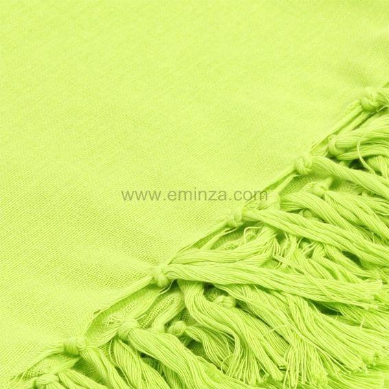 Plaid en coton 180 cm lana vert anis jet de canap - Canape vert anis ...