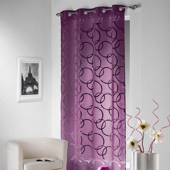 voilage violet
