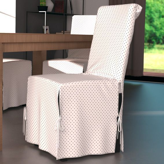 Housse de chaise kara blanc housse de chaise eminza for Housse de chaise blanc