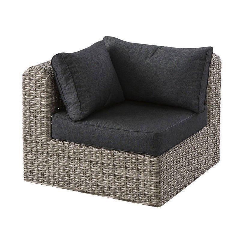 fauteuil d 39 angle de jardin libertad sepia gris anthracite salon composer eminza. Black Bedroom Furniture Sets. Home Design Ideas