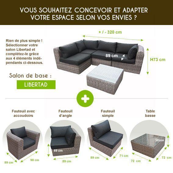 Fauteuil de jardin Libertad - Sepia/gris anthracite - Salon de ...