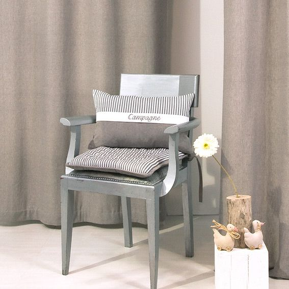 coussin de chaise carr campagne gris galette et coussin de chaise eminza. Black Bedroom Furniture Sets. Home Design Ideas