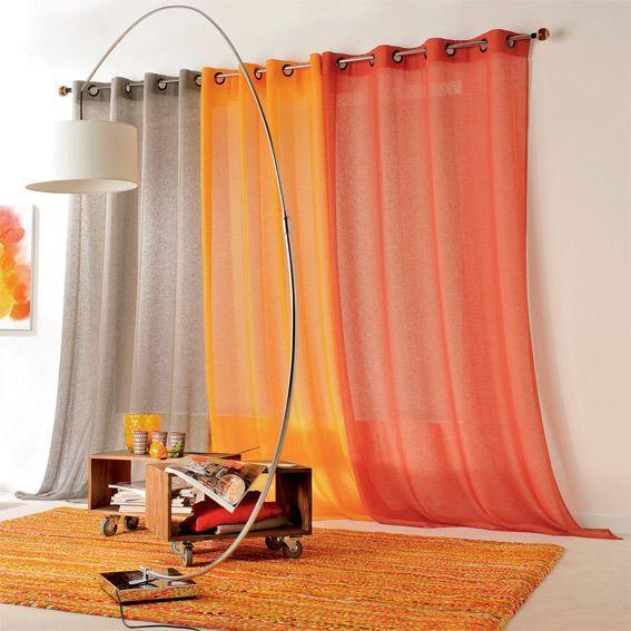 rideau de couleur safran. Black Bedroom Furniture Sets. Home Design Ideas