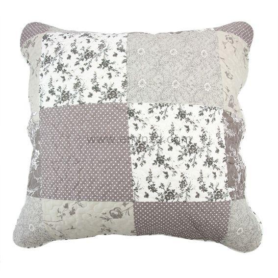 boutis et taies d 39 oreiller 250 x 260 cm zoe gris couvre lit boutis eminza. Black Bedroom Furniture Sets. Home Design Ideas