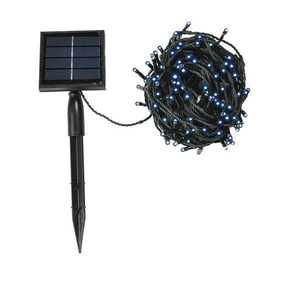 guirlande lumineuse solaire 16 m bleu 175 led guirlande lumineuse eminza. Black Bedroom Furniture Sets. Home Design Ideas