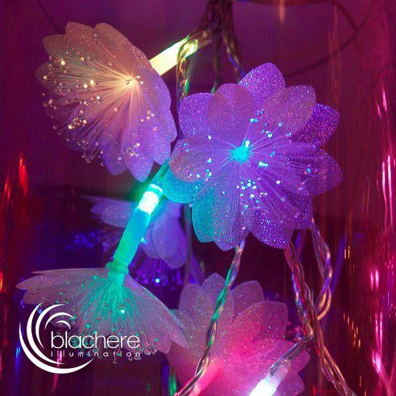 Fibre Optique Decoration Lumineuse : Guirlande lumineuse marguerite fibre optique multicolore