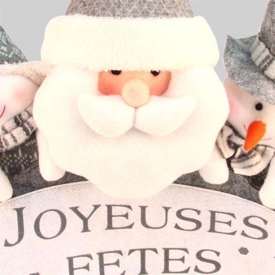 Bien-aimé Banderole de Noël joyeuses fêtes Gris - Décoration à suspendre  RP83