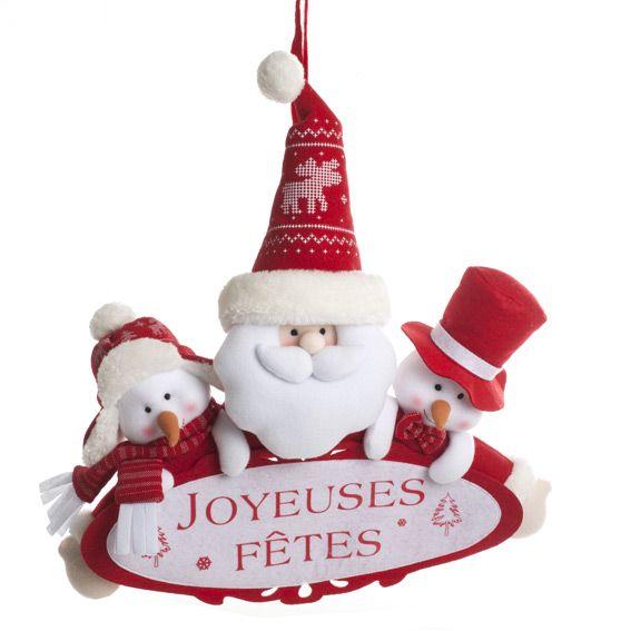 Bien-aimé Banderole de Noël joyeuses fêtes Rouge - Décoration à suspendre  RP83
