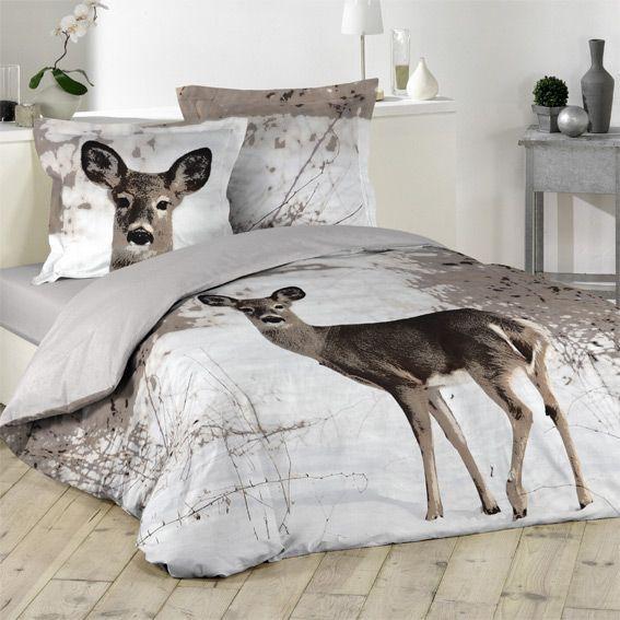housse de couette et deux taies 240 cm biche housse de couette eminza. Black Bedroom Furniture Sets. Home Design Ideas