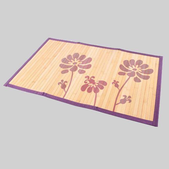 tapis de bain fleur violet tapis salle de bain eminza. Black Bedroom Furniture Sets. Home Design Ideas
