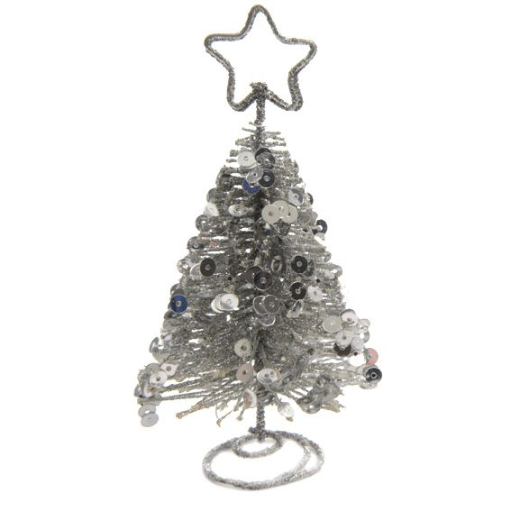 Porte nom ou menu sapin argent d coration pour la table for Porte nom noel