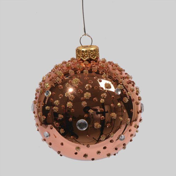 lot de 6 boules de no l d70 mm katarina cuivre boule de no l eminza. Black Bedroom Furniture Sets. Home Design Ideas