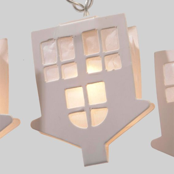 guirlande lumineuse maison en papier blanc chaud 20 led guirlande lumineuse eminza. Black Bedroom Furniture Sets. Home Design Ideas