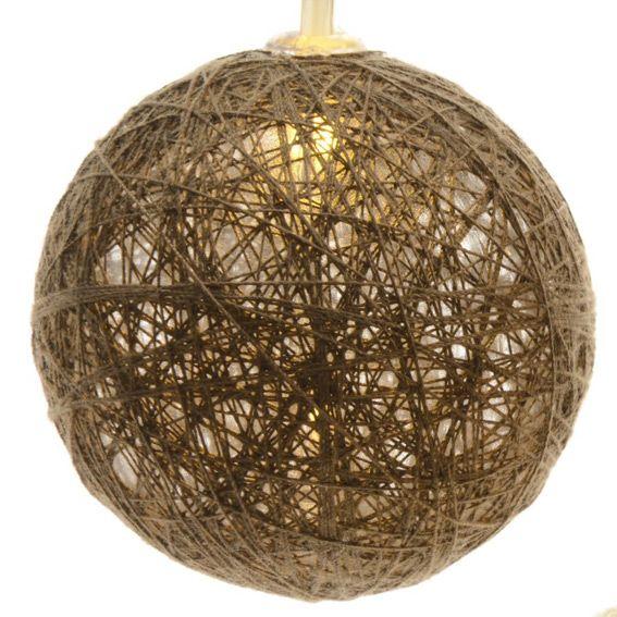 guirlande lumineuse boules de coton blanc chaud 24 led. Black Bedroom Furniture Sets. Home Design Ideas