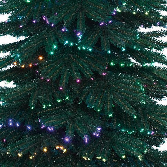 Sapin de no l fibre optique h210 cm dancing sapin en fibre optique eminza - Sapin de noel 180 cm ...