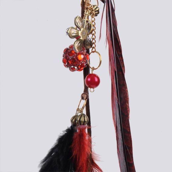 suspension plume agathe rouge d coration suspendre. Black Bedroom Furniture Sets. Home Design Ideas