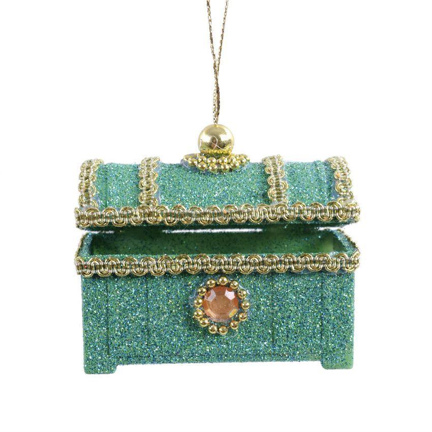 Boite bijoux de no l vert meraude d coration for Decoration boite a bijoux