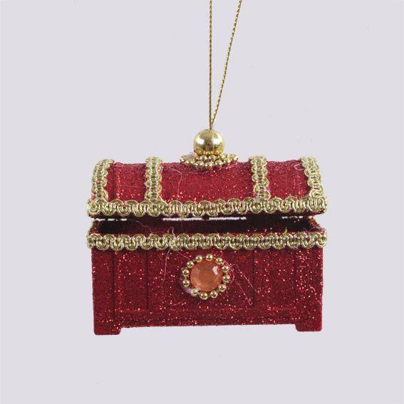 suspension boite bijoux de no l rouge d coration suspendre eminza. Black Bedroom Furniture Sets. Home Design Ideas