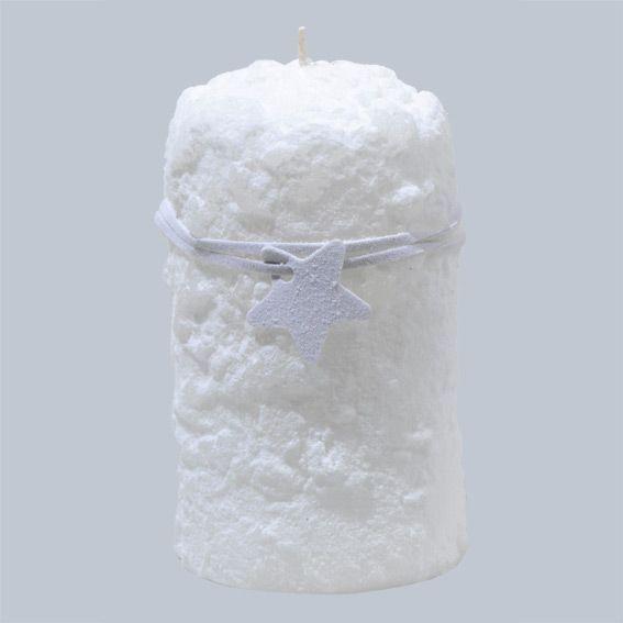 grande bougie des glaciers blanc decoration de table eminza. Black Bedroom Furniture Sets. Home Design Ideas