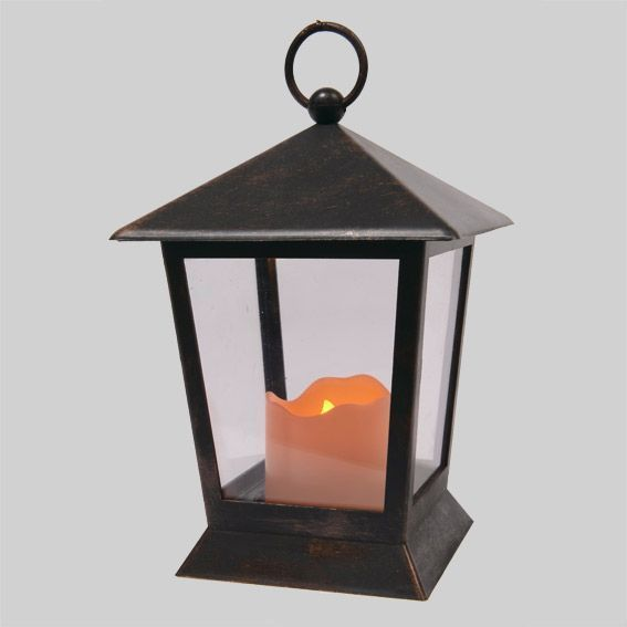Petite lanterne antique noir guirlande lumineuse eminza - Petite guirlande lumineuse led ...