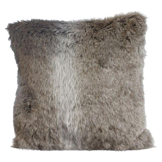coussin imitation fourrure renard du d sert coussin et. Black Bedroom Furniture Sets. Home Design Ideas