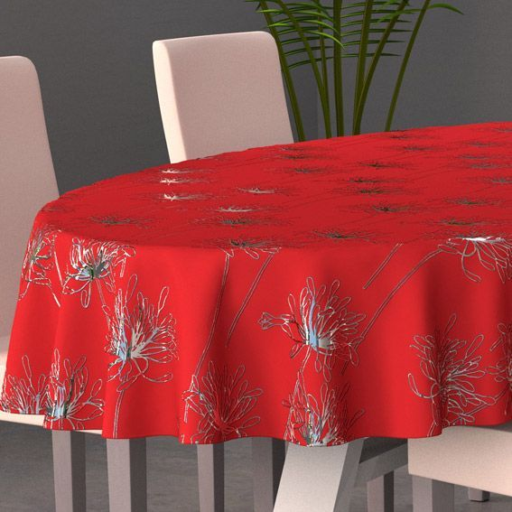 nappe ovale l230 cm emma rouge nappe de table eminza. Black Bedroom Furniture Sets. Home Design Ideas