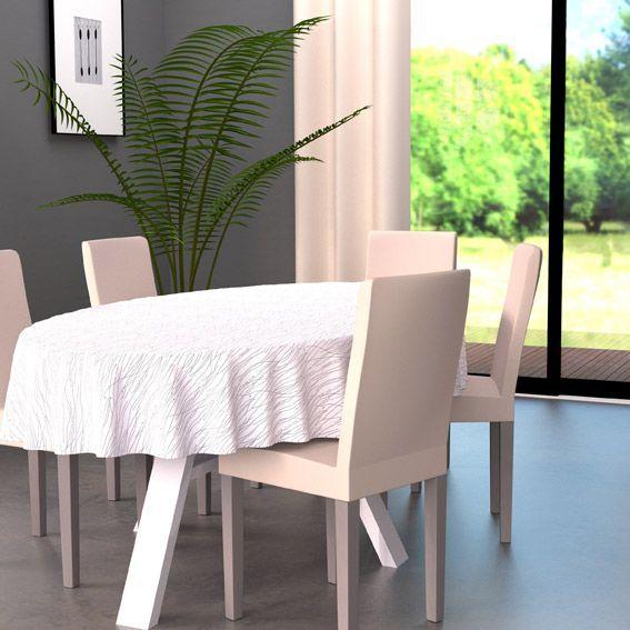 nappe ovale l230 cm glitter blanc linge de table eminza. Black Bedroom Furniture Sets. Home Design Ideas