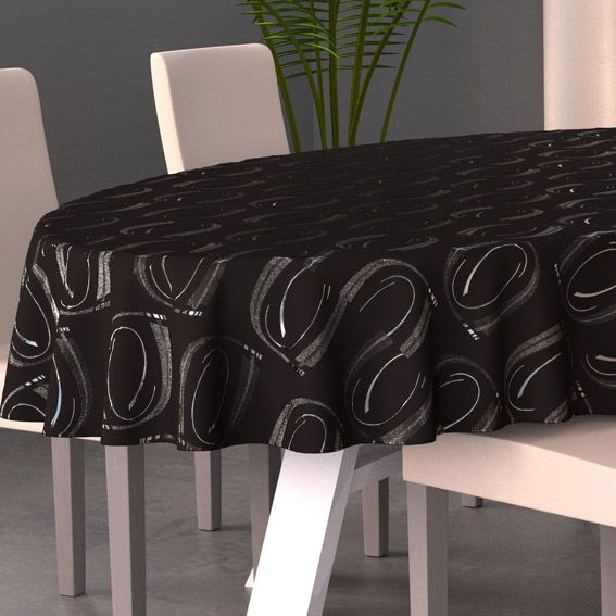 nappe ovale l230 cm jade noir nappe de table eminza. Black Bedroom Furniture Sets. Home Design Ideas