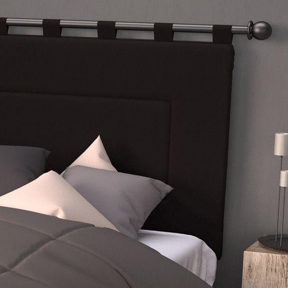 t te de lit capitonn velours blanc meuble de salon contemporain. Black Bedroom Furniture Sets. Home Design Ideas