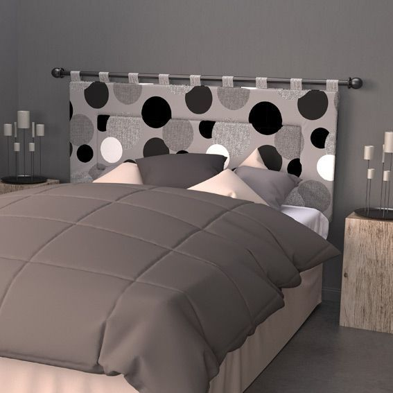 t te de lit 160 cm pop gris t te de lit eminza. Black Bedroom Furniture Sets. Home Design Ideas
